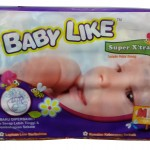 Product Code - 2106 Description - Baby Like Super Xtra Mega (M) 72'sPacking - 72's x 4 bags