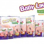 Product Code - 2105  Description - Baby Like Super Xtra Mega (S) 74's  Packing - 74's x 4 bags