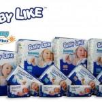 Product Code - 2118  Description - Baby Like E/Plus-Mega (M) 72's  Packing - 72's x 4 bags
